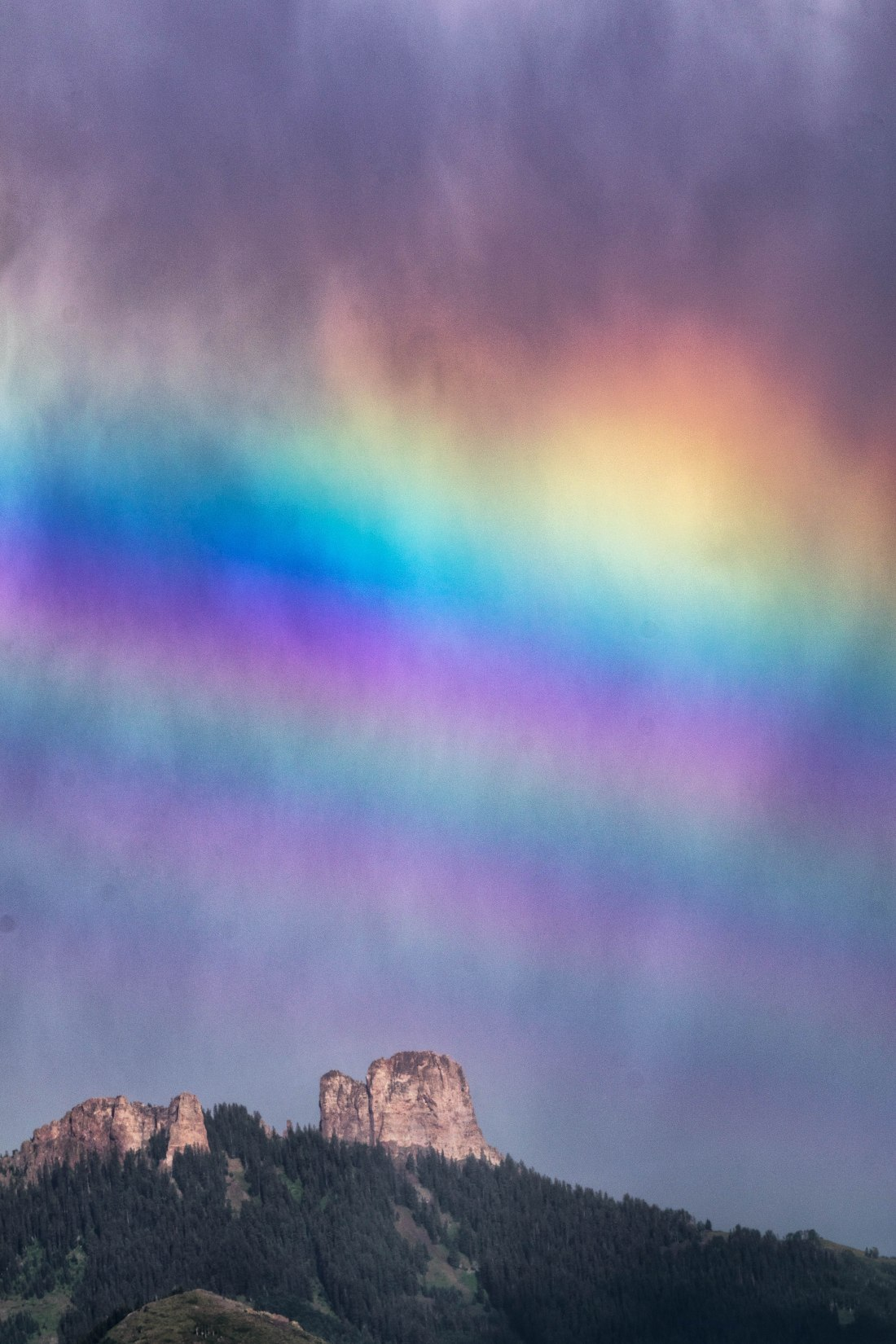 Castle Rock Rainbow.Crawford State Park