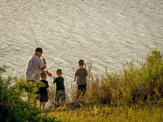 Fishin' lessons.Crawford St Pk
