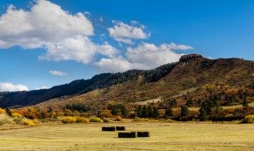 Fall fields of hay