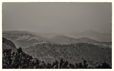 misty hills at Ghost Ranch