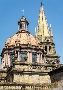 Guadalajara Cathedral dome & bell tower
