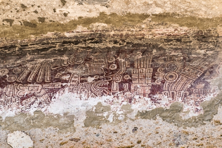 pre-Spanish painting w cochineal.Mitla.3