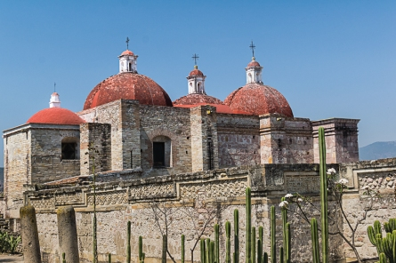 Spanish church built on ruins.Mitla