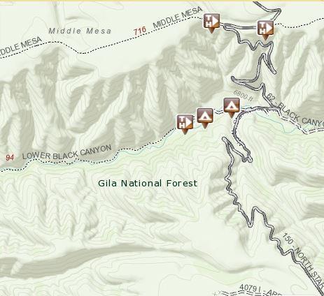 Black Canyon map