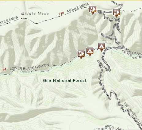 Black Canyon map