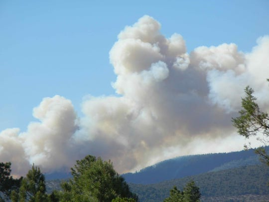 Tadpole fire smoke -- USFS-Gila Forest photo